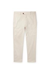Pantalón chino en beige de Brunello Cucinelli