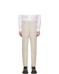 Pantalón chino en beige de Jil Sander