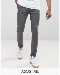 Pantalón chino en gris oscuro de Asos