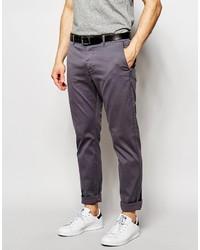 Pantalón chino en gris oscuro de YMC