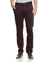 Pantalón chino en marrón oscuro de Boss Orange