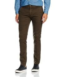 Pantalón chino en marrón oscuro de SPRINGFIELD