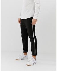 Pantalón chino en negro y blanco de Burton Menswear