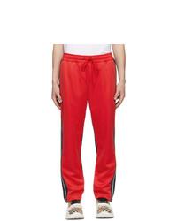 Pantalón chino en rojo y negro de Burberry