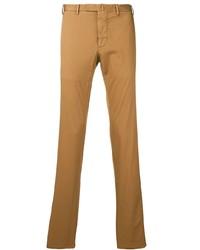 Pantalón chino en tabaco de Dell'oglio