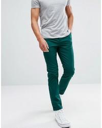 Pantalón chino en verde azulado de Asos