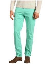 Pantalón chino en verde menta