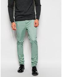 Pantalón chino en verde menta de Asos