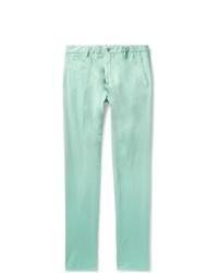 Pantalón chino en verde menta de Zanella