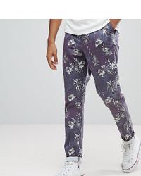Pantalón chino estampado azul marino de ASOS DESIGN