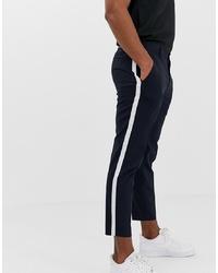 Pantalón chino estampado azul marino de Burton Menswear