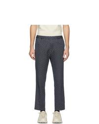 Pantalón chino estampado azul marino de Gucci