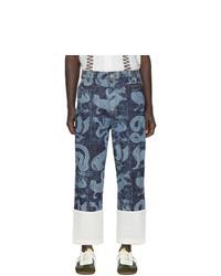 Pantalón chino estampado azul marino de Loewe