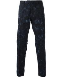 Pantalón chino estampado azul marino de Valentino