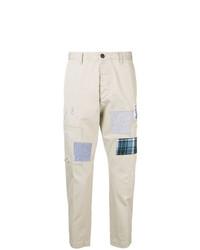 Pantalón chino estampado en beige de DSQUARED2