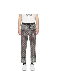 Pantalón chino estampado en multicolor de Dolce and Gabbana