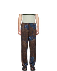 Pantalón chino estampado en multicolor de Dries Van Noten