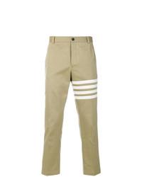 Pantalón chino estampado marrón claro de Thom Browne