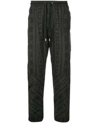 Pantalón chino estampado negro de Givenchy