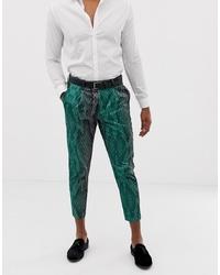 Pantalón chino estampado verde de ASOS DESIGN