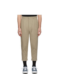 Pantalón chino marrón claro de AMI Alexandre Mattiussi