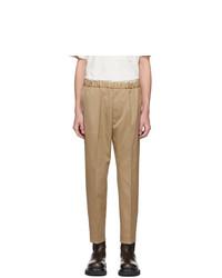 Pantalón chino marrón claro de Jil Sander