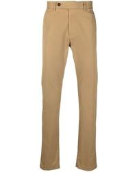 Pantalón chino marrón claro de Massimo Alba