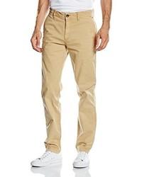 Pantalón chino marrón claro de Tommy Hiliger