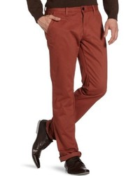 Pantalón chino marrón de Selected