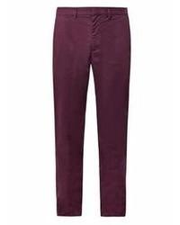 Pantalón chino morado oscuro