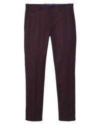 Pantalón chino morado oscuro de Mango
