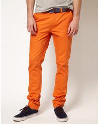 Pantalón chino naranja de Cheap Monday