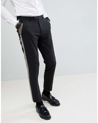 Pantalón Chino Negro y Blanco de Asos