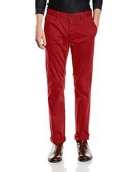 Pantalón chino rojo de Boss Orange