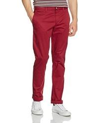 Pantalón chino rojo de Original Penguin