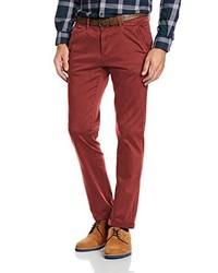 Pantalón chino rojo de Tom Tailor Denim