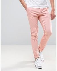 Pantalón chino rosado de Asos