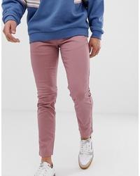 Pantalón chino rosado de Burton Menswear