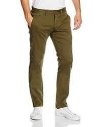 Pantalón chino verde oliva de Hilfiger Denim