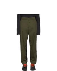 Pantalón chino verde oliva de Moncler Genius