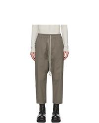 Pantalón chino verde oliva de Rick Owens
