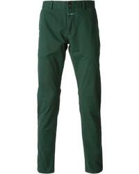Pantalón chino verde oscuro
