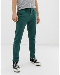 Pantalón chino verde oscuro de ASOS DESIGN