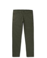 Pantalón chino verde oscuro de Aspesi