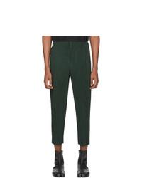 Pantalón chino verde oscuro de Homme Plissé Issey Miyake