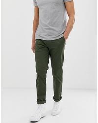 Pantalón chino verde oscuro de Selected Homme