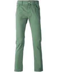 Pantalón chino verde de Jacob Cohen