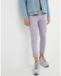 Pantalón chino violeta claro de ASOS DESIGN