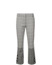Pantalón de campana a cuadros gris de Derek Lam 10 Crosby