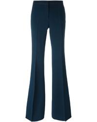 Pantalón de campana azul marino de Burberry